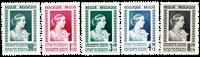 Belgien 1951 - OBP 863-67 - Ubrugt