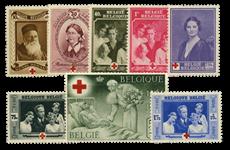 Belgien 1938 - OBP 496-503 - Ubrugt