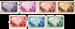 Belgien 1932 - OBP 356-62 - Ubrugt