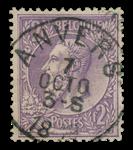 Belgien 1884 - OBP 52 - Stemplet