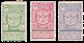 Belgien 1894 - OBP 68-70 - Ubrugt