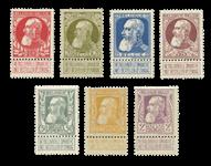 Belgien 1905 - OBP 74-80 - Ubrugt