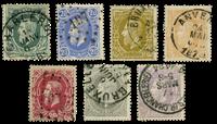Belgium 1869 - OBP 30-36 - Cancelled