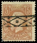 Belgium 1869 - OBP 37 - Cancelled