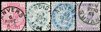 Belgium 1883 - OBP 38-41 - Cancelled
