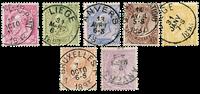 Belgium 1884 - OBP 46-52 - Cancelled