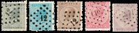 Belgium 1865 - OBP 17-21 - Cancelled