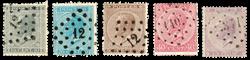 Belgien 1865 - OBP 17-21 - Stemplet