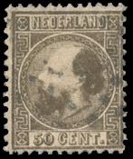 Hollanti 1867 - NVPH 12II - Leimattu