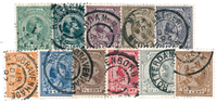 Netherlands 1893-1894 - NVPH 34-44 - Cancelled