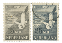 Hollanti 1951 - NVPH LP12 en LP13 - Leimattu