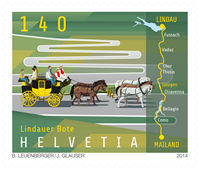 Switzerland - Lindau Messenger - Mint stamp