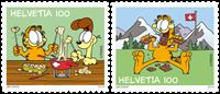 Schweiz - Garfield - Postfrisk sæt 2v