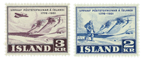 Island 1951 - Postvæsner - AFA 274-275 - Postfrisk