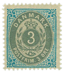 Danmark - 1875 - AFA nr. 22 - postfrisk