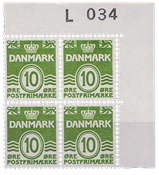 1962 TANSKA - AFA L 034 postituoreena