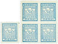 Island - tax frimærke + 4-blok