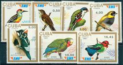 Cuba fugle 1991 postfrisk sæt