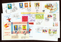 Rare football envelopes 12 pcs.