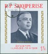 Albania 1968 - 60 years birthday of Enver Hoxhas