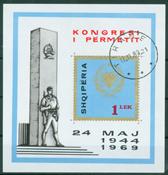 Albanien 1969 1335 25 året for uafhængighedserklæringen i Permet