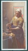 Nederlandske Antiller - kunst J. Vermeer miniark - Postfrisk miniark