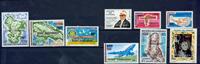 Comorerne - 9 postfriske frimærker