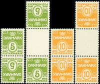 Danmark tete-beche de 4 første postfrisk afa nr. tb1-4