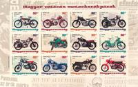 Hungary - Vintage motor cycles - Mint sheetlet