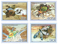 Ungarn - Insekter - Postfrisk sæt 4v