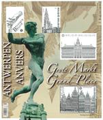 Belgium - Grand-Place Antwerp - Mint souvenir sheet