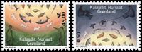 Grønland - Fangerliv - Postfrisk sæt 2v