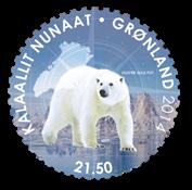 Grønland - Fra pol til pol - Postfrisk frimærke