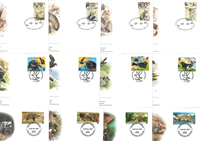 WWF - 10 complete WWF sets on FDCs