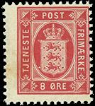 Danmark 1899 - AFA tj6B - Tjenestemærke