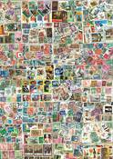 Hele Verden gigantsamling - 15.500 forskellige frimærker