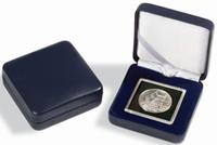 Møntetui NOBILE til Quadrum møntkapsler 65 x 65 mm  blå - Leuchtturm