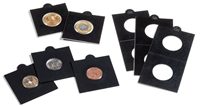 Møntholdere MATRIX sort 20mm selvklæbende - Leuchtturm