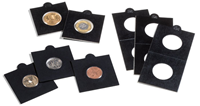 Møntholdere MATRIX sort 30 mm selvklæbende - Leuchtturm