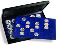 Møntkassette PRESIDO 128 mønter eller møntkapsler 47 mm - Leuchtturm