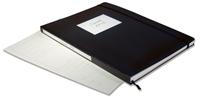 Classificatore TRAVEL A4 - 48 pagg. camoscio, 9 listelli pergamino - nero