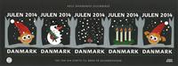 Danmark - Julemærket 2014 - Postfrisk megaark.Udvalgte Julemærker fra årets ark i mega-størrelse selvkl