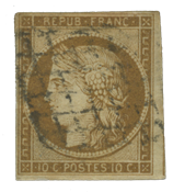 France 1850 - YT 1a - Cancelled