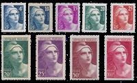 Frankrig 1945 - YT 725/733 - Ubrugt