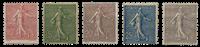 France - YT 129/33 - Unused