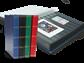 Indstiksbog - assorterede farver - str. A4 - 60 sorte sider