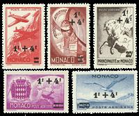 Monaco - 1945 - Y&T 8/12 luftpost postfrisk