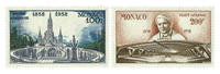 Monaco 1958 - Air mail mint - YT PA69/70
