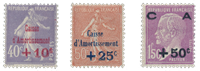 France 1927 - YT 249-51 - Unused