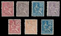 France 1900 - YT 112-18 - Cancelled